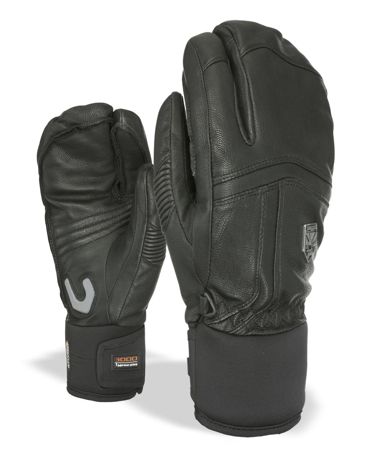 Level Handschuh  Off Piste Leather Trigger schwarz wasserdicht
