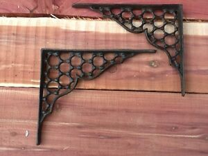 2 Webb Cast Iron Wall Shelf Bracket Shelf Brace Corbel Rustic FREE SHIPPING