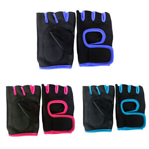 Weight Lifting Gloves Women Neoprene Ladies Black Gel Gym Straps Yoga Fitness