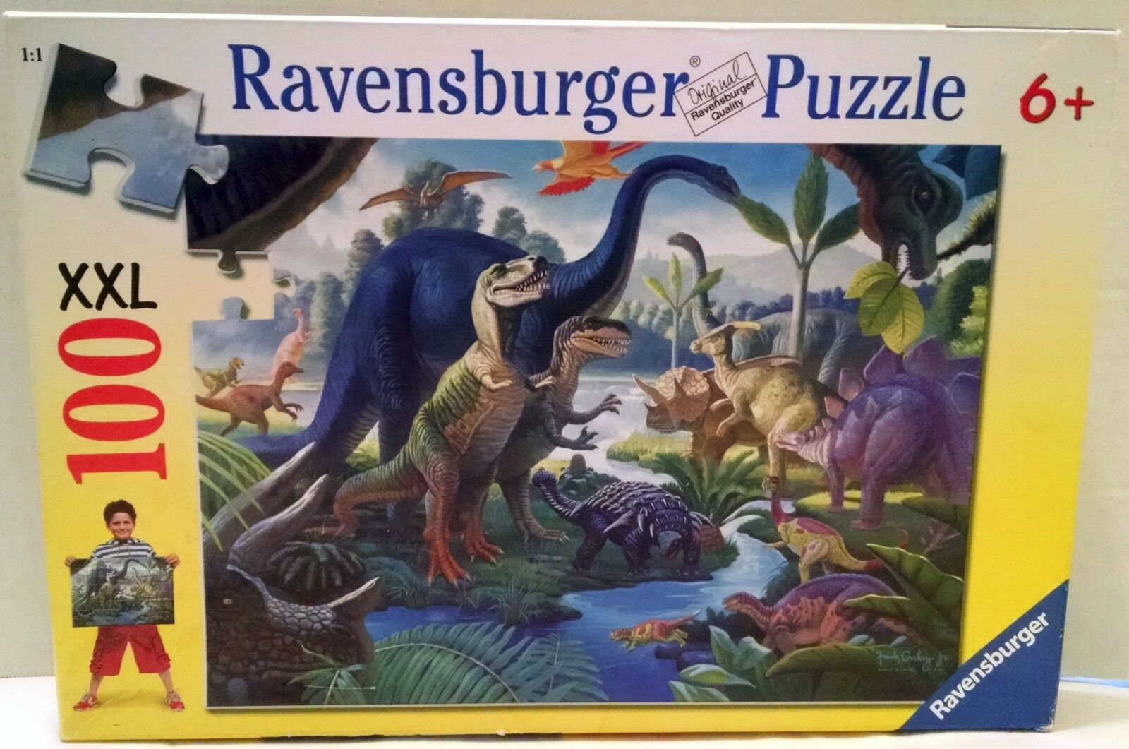 Ravensburger Dinosaur Puzzle XXL 100pc Germany 107407 2008 Germany 100pc T-Rex Dinos 6ea72f