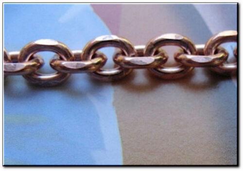 De cuivre solides 1//4 de pouce large Homme 8 1//2 pouces Link Bracelet CB603G.