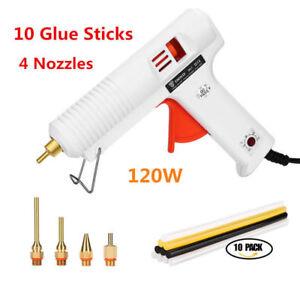 120W Hot Stick Heater Trigger Electric Melt Glue Guns Repair Tool 10 Glue Sticks