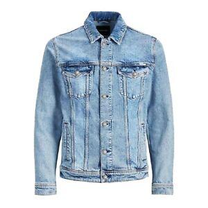 Giubbino-Jeans-Uomo-Giacca-Denim-Casual-Giacca-Slim-Fit-Blu-Chiaro