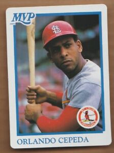 Details About Orlando Cepeda 1990 Mvp Baseball All Star Stat Card St Louis Cardinals 90