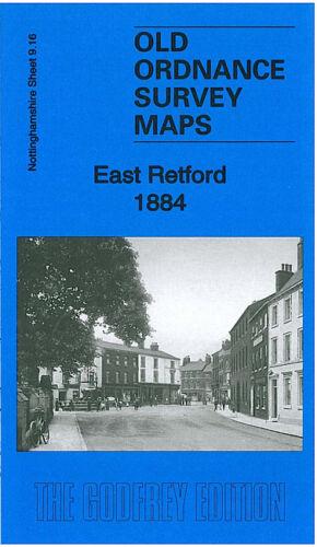 OLD ORDNANCE SURVEY MAP EAST RETFORD 1884 MARKET SQUARE THRUMPTON BALK FIELD