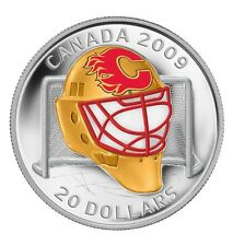 Canada Coin Hockey 2009 NHL Calgary Flames Goalie Mask $20