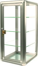 Glass Countertop Display Case Fixture Showcase Key lock 3 shelves BRONZE