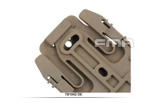 2x FMA Safariland Quick Locking System Kit Holster QLS TB1042 BK//DE
