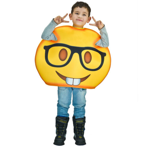 New Nerd Emoji Costumes with Printed Glass Kid Funny Emoticon Jumpsuit for party