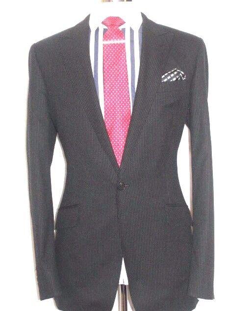 Jaeger suit  Tailor-Made LONDON  LINE  PINSTRIPES  THE  SUIT  40W34  XL32