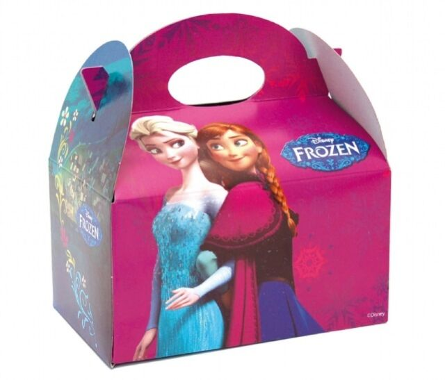 40 Disney Frozen Food Boxes ~ Picnic Carry Meal Box ~ Kids Birthday Party Bag