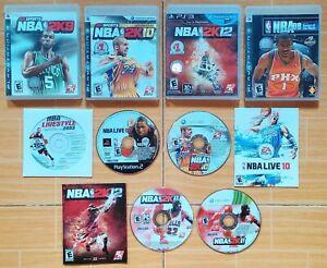 ASSTD NBA Games Bundle: Live 06 08 2K9 2K10 2K11 2K12 (PC, Xbox, PS2, PS3) ORIG