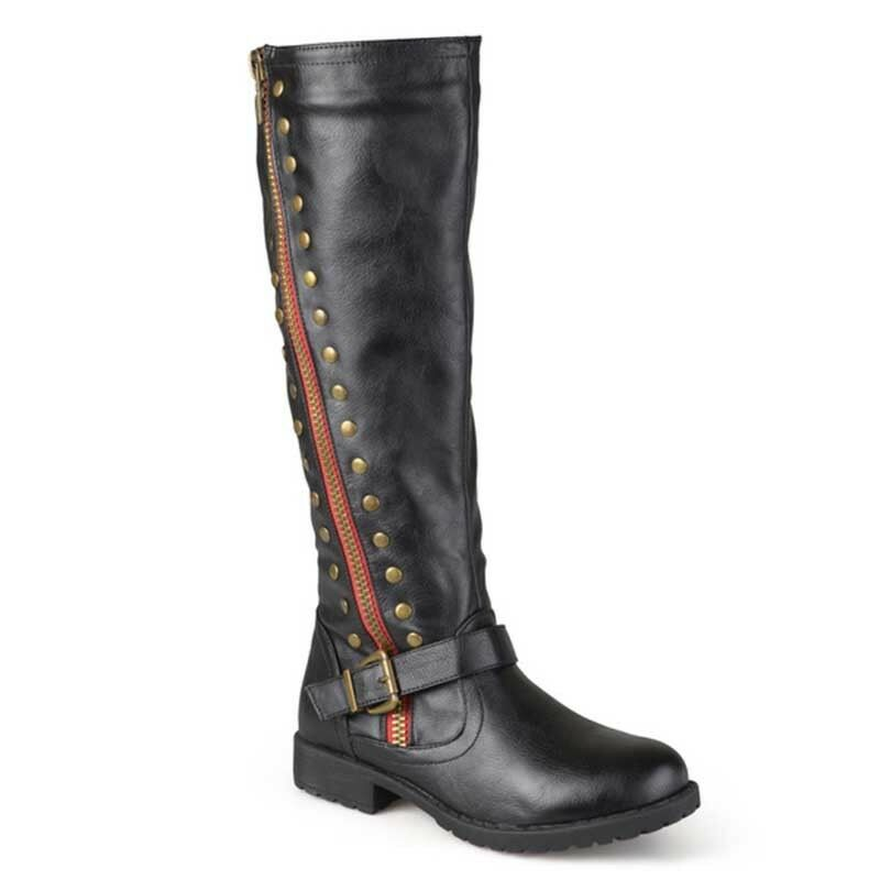 Women's Knee High Motorcycle Knight Leather Boots Equestrian Long Classic Boots