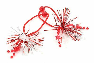 Zest 2 Christmas Tinsel with Snowflakes Hair Bobbles Bands