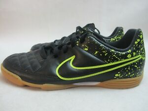 72f7f5a279a3ee Junior Nike Tiempo Rio Black Lime Indoor Football Boots UK 5.5 EUR ...
