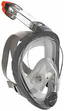 Mares Head Sea Vu Dry Full Face Snorkeling Mask L/XLarge USED VERY GOOD OPEN BOX