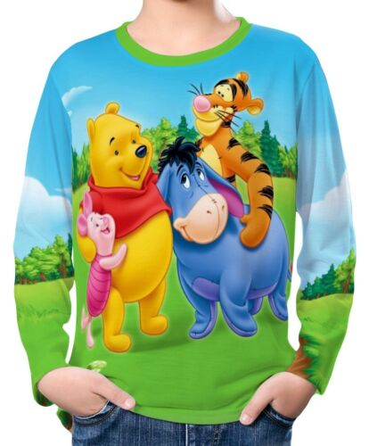 Winnie The Pooh Bear Boy Kid Long Sleeve T-Shirt Tee Age 3-13 ael30184