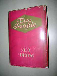 Two-People-By-A-A-Milne-1931-First-Edition-w-DustJacket-Winnie-the-Pooh-Author
