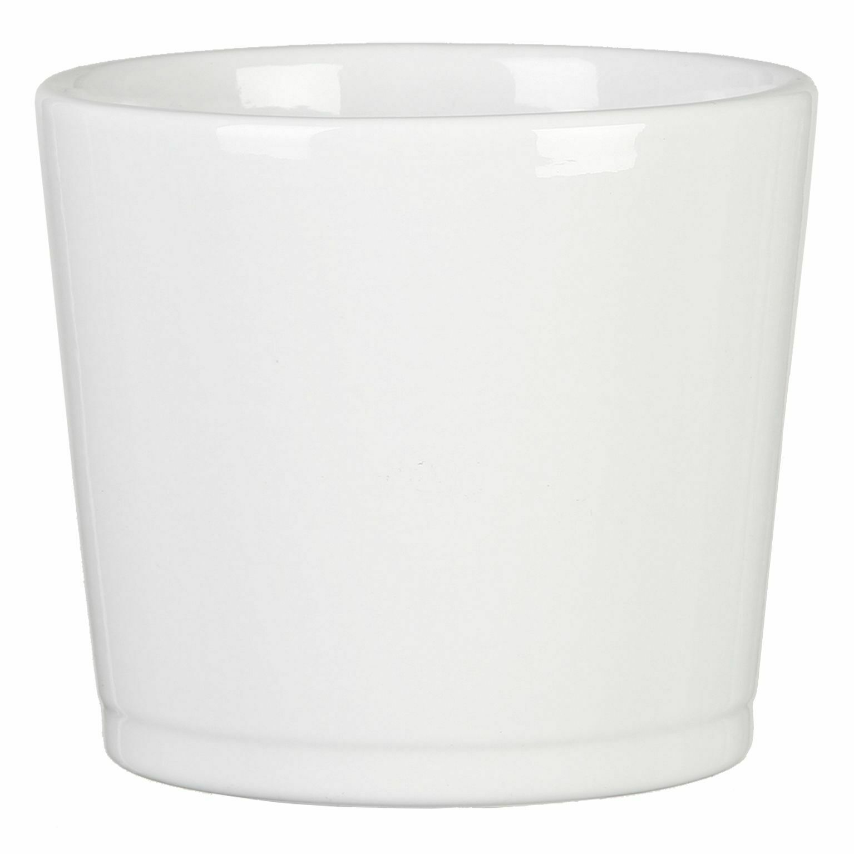 "Orchideentopf /""Twirl/"" 13x17 cm Snow Scheurich Keramik Kübel weiß Blumentopf"