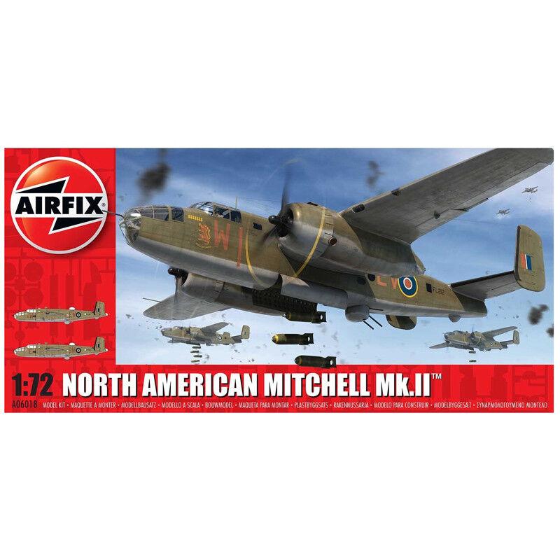 Airfix North American Mitchell Mk.II (skala 1 72) Luftfkonstyg Förlaga Kit A006018