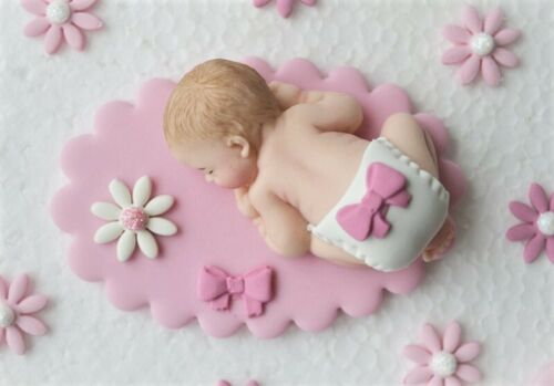 baptism cake topper decoration /& upright cross. Edible baby girl christening