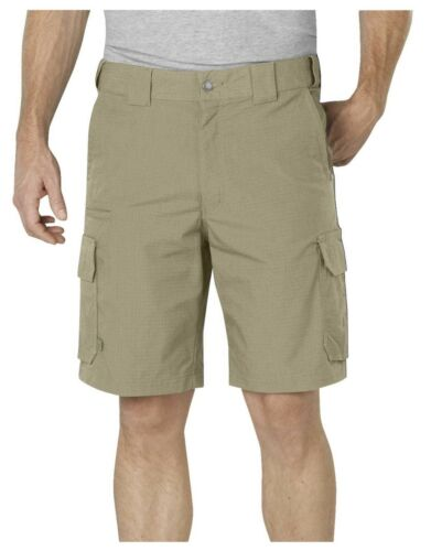 """Dickies DESERT SAND Tactical 10/"""" Relaxed Stretch Ripstop Cargo Shorts LR704DS"""