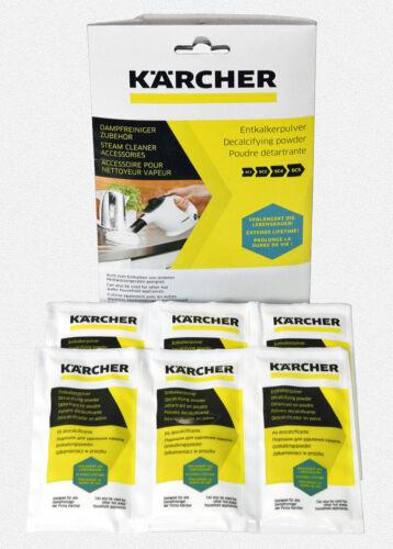 ✿ 6 x 17 g Nettoyeur vapeur périphériques entkalkerpulver ✿ Karcher détartrants-Poudre
