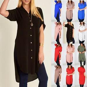 Women Ladies Batwing Hi Lo Chiffon Fashion Summer Oversized Dress Baggy Top 8-26