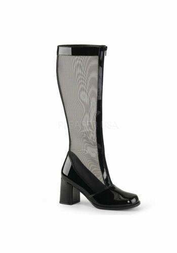Funtasma GOGO-307 3 Inch Block Heel Gogo Mesh Boot