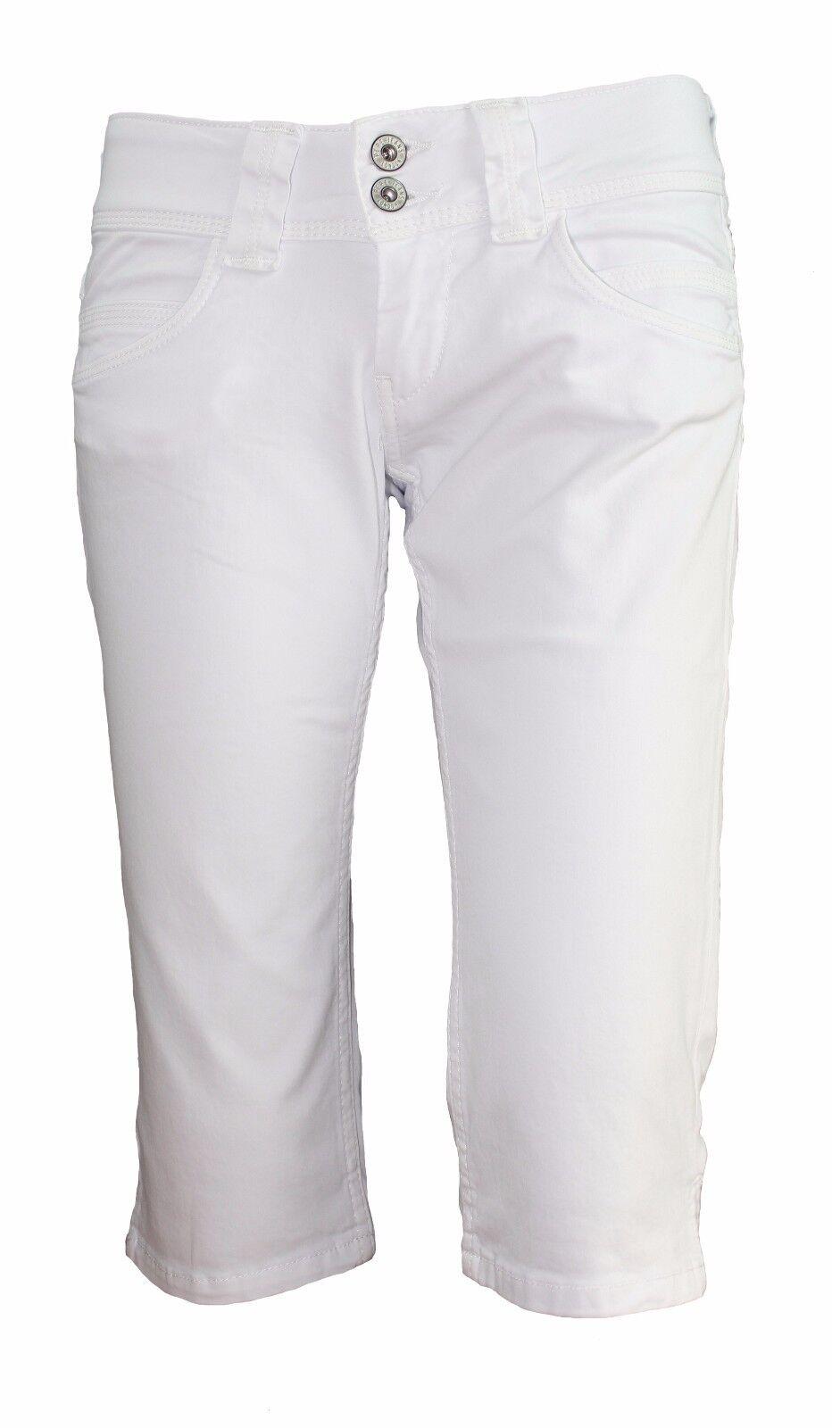 Pepe Jeans VENUS CROP Caprihose Weiß