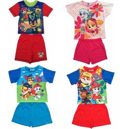 Niños Chicos Chicas Paw Patrol Shortie Pijamas Pijama Ropa para dormir las edades de 1.5 a 5 años