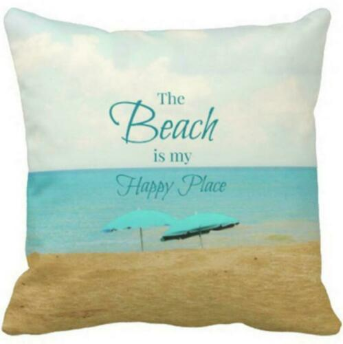 2019 Seaside Scenery Pillow Case Pillow Cover Sofa Cushion Cover Home Decor Gift