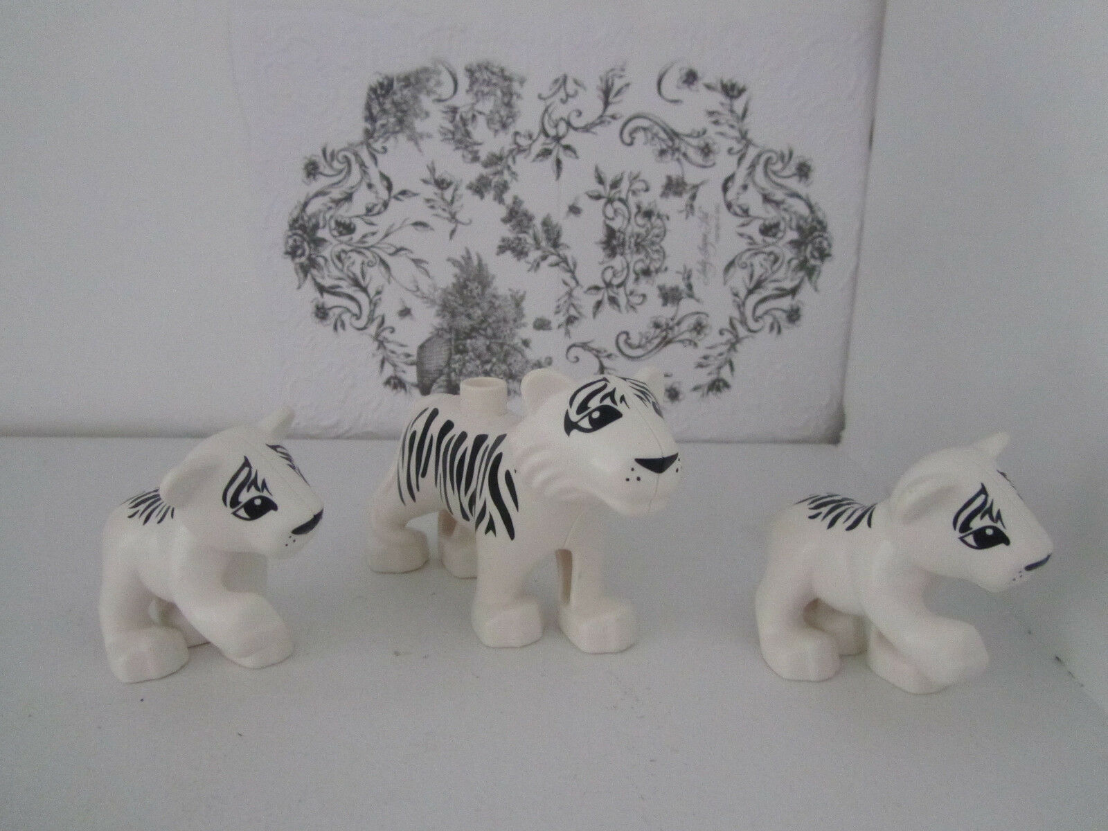 Lego Duplo Animals White Tiger Adult & Babies Zoo Safari Wild Life Lot Set