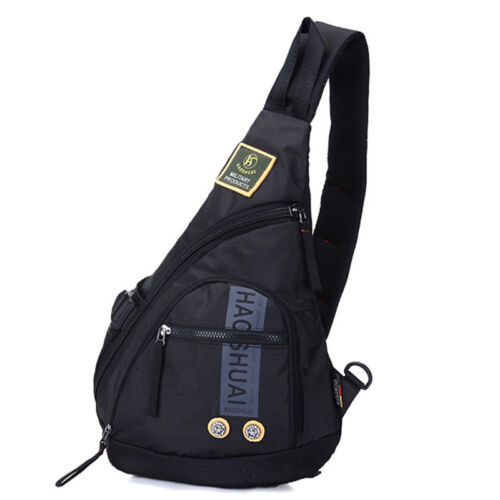 New Nylon One Shoulder Daypack Travel Hiking Men Messenger Chest Bag Backpack