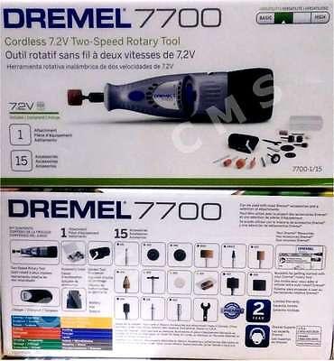 DREMEL 7700-1/15 7.2V Cordless Drill 2-Speed Rotary Tool MultiPro 770 New Bosch