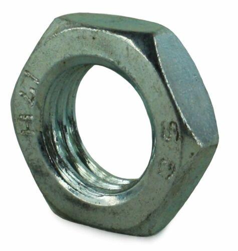 M24 Hex moitié lock nuts zinc plaqué acier