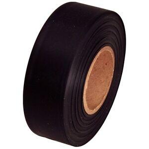 Mode 2019 Black Flagging Marking Tape 1 3/16 Inch X 300 Ft Non-adhesive ProcéDéS De Teinture Minutieux