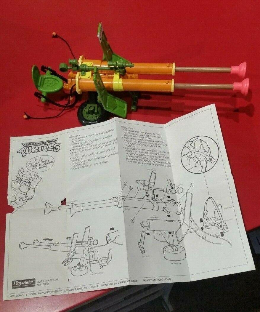 Vintage Teenage Mutant Ninja Turtles Turtles Turtles TMNT - Double Barreled Plunger Gun 1ed9a3