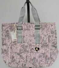 Harajuku Lovers Uh Oh Twisted Pink Striped Large Tote