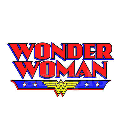 "Wonder Woman Logo Iron On Transfer 5/""x7.5/"" For LIGHT Fabric"