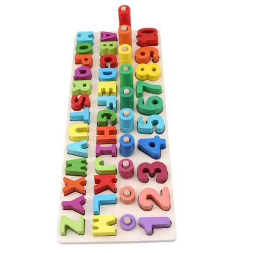 Kids Wooden Montessori Learning To Count Numbers Matching Early Education Toy Q