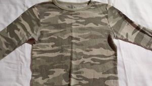 Fruit-of-the-Loom-Boy-039-s-Camouflage-Long-Sleeve-Thermal-Top-Size-L-12-14