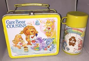 1985 Care Bear Cousins Lunch Box & Thermos Vintage
