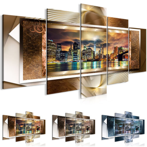 Canvas Print New York Framed Wall Art Picture Photo Image d-C-0078-b-n