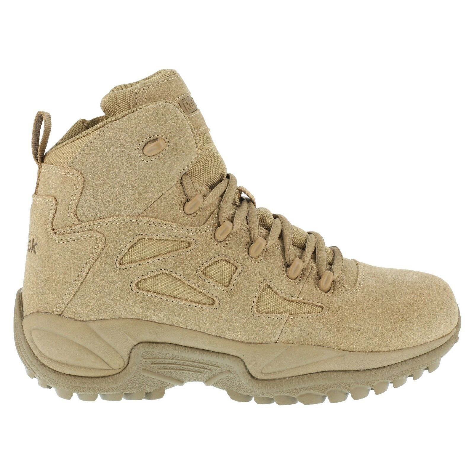Reebok Men's Tactical Military Desert Tan Stealth Boots 6 Inch Side Zip Comp Toe