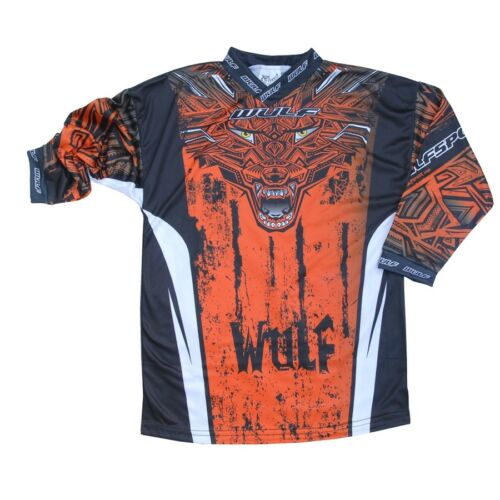 Wulf AZTEC Kinder Race Shirt 11-13 J Orange Moto Cross BMX Enduro Motorrad Quad
