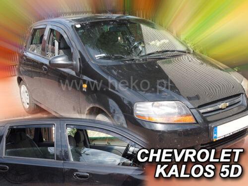 04-08 ab 04//KALOS Bj HEKO Windabweiser 10504 4 tlg CHEVROLET AVEO CLASSIC Bj