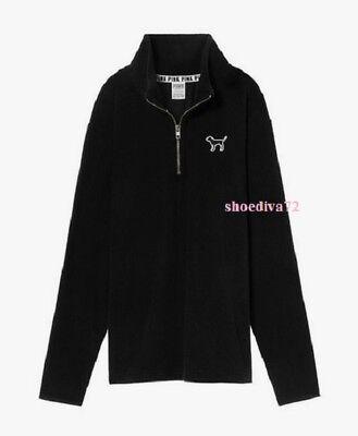 Victoria's Secret PINK Polar Fleece 1//4 Zip Pullover Jacket M Medium NWT $79.95