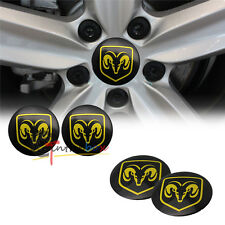 4PCS 56.5mm Dodge Logo Aluminum Car Auto Wheel Center Hub Cap Emblems Stickers