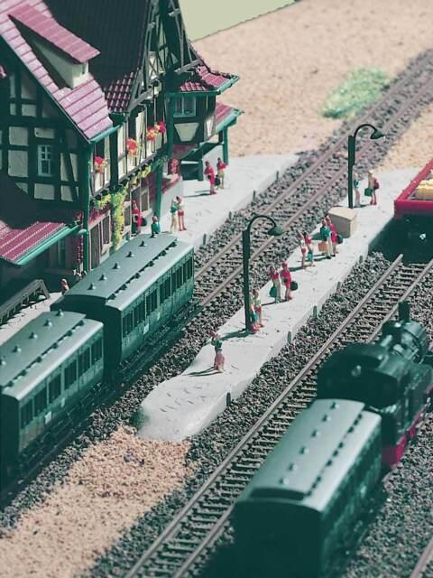 Vollmer Z 49525 Bahnsteigpackung Neuffen  Neu